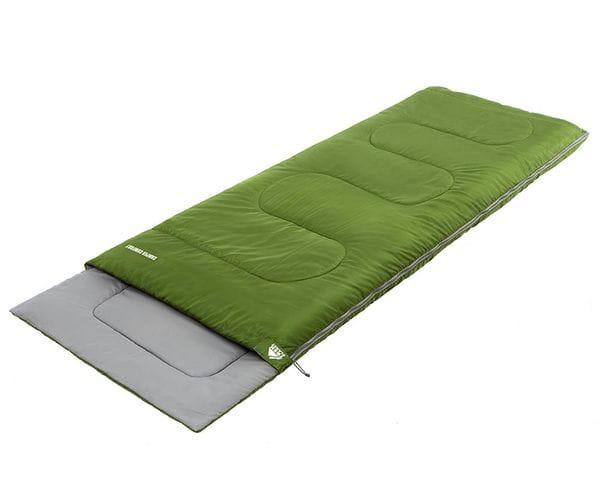 Классический спальный мешок-одеяло CAMPER COMFORT зеленый