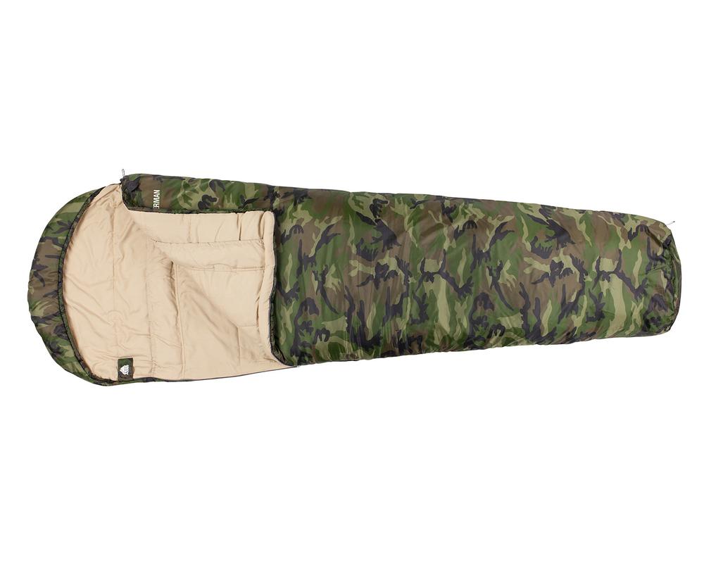 Камуфляжный спальный мешок-кокон FISHERMAN XL
