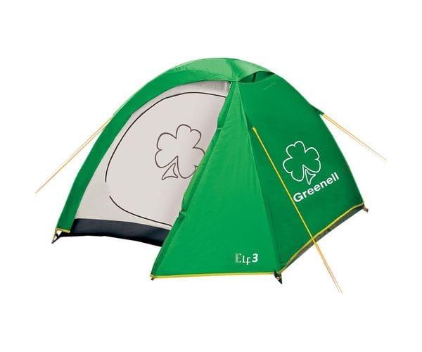 Палатка для путешествий трёхместная Эльф 3 V3 зеленая