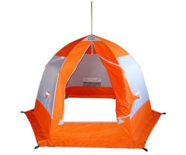 """Палатка-зонт """"Пингвин 3""""белый/оранжевый"""