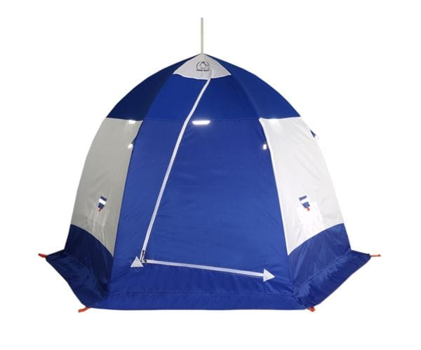 """Палатка-зонт """"Пингвин 3""""белый/синий"""