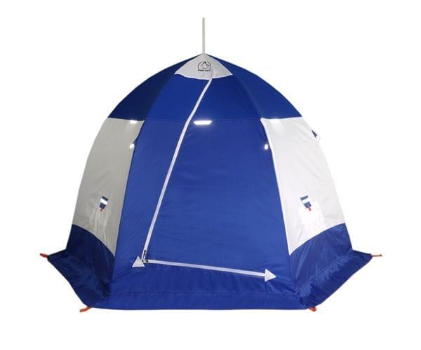 """Палатка-зонт """"Пингвин 2""""белый/синий"""