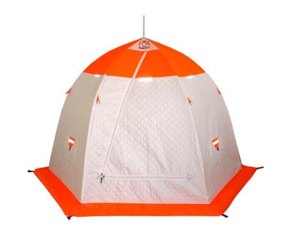 """Палатка-зонт """"Пингвин 3"""" ТЕРМОЛАЙТ белый/оранжевый"""