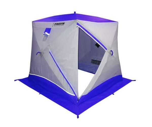 """Палатка-куб двухслойная Призма """"BRAND NEW"""" белый/синий"""
